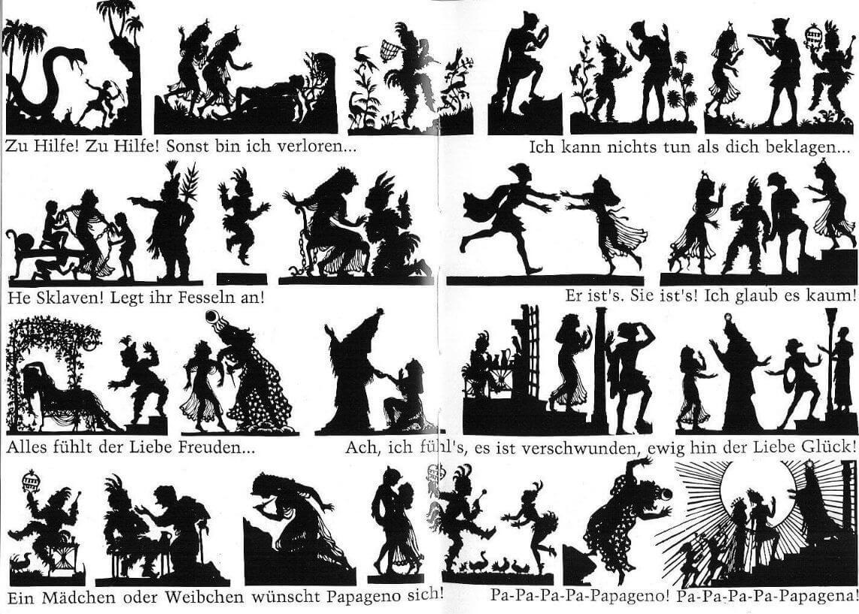 """Иллюстрации Лотты Райнигер к опере В. А. Моцарта """"Волшебная флейта"""""""