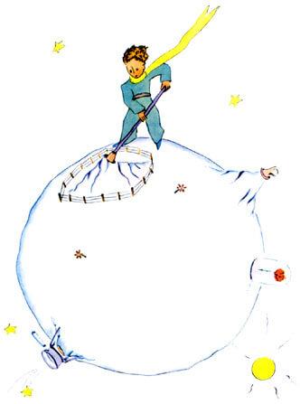 """Иллюстрация Антуана де Сент-Экзюпери к сказке """"Маленький принц"""""""