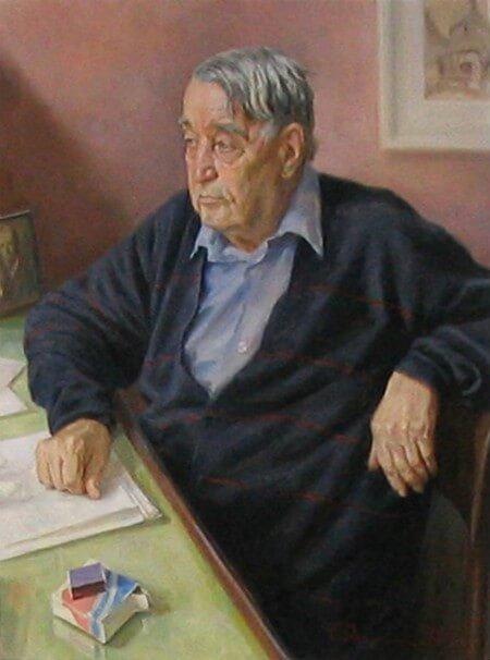 С.В. Данилин. Портрет Л.Н. Гумилёва. 1991 год