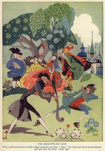 Иллюстрация Джойса Мерсера (Joyce Mercer) к сказке Альберта фон Шамиссо
