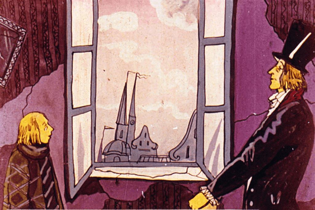 Иллюстрация М. Жуковой к сказке Г.Х. Андерсена «Тень»