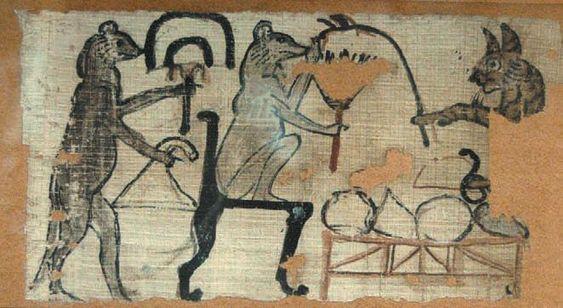 Древнеегипетская карикатура из Британского музея
