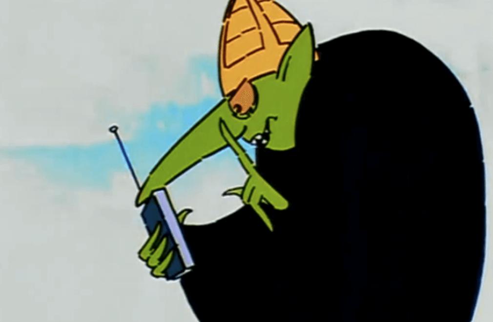 """Кадр из мультсериала """"Маззи в Гондолэнде"""" (1986)"""
