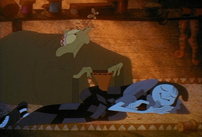 """Кадр из мультфильма """"Вор и сапожник"""" (1993)"""