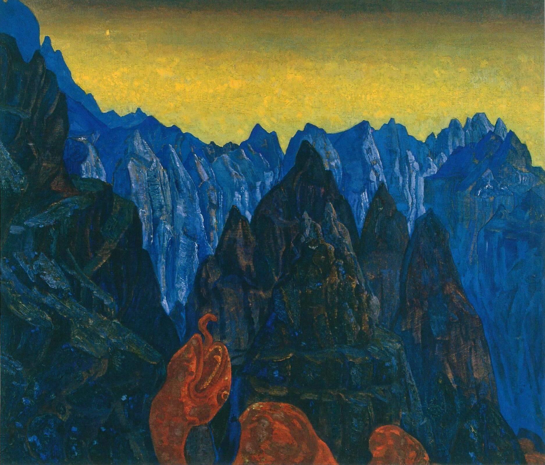 Н.К. Рерих «Крик змия» (1914)