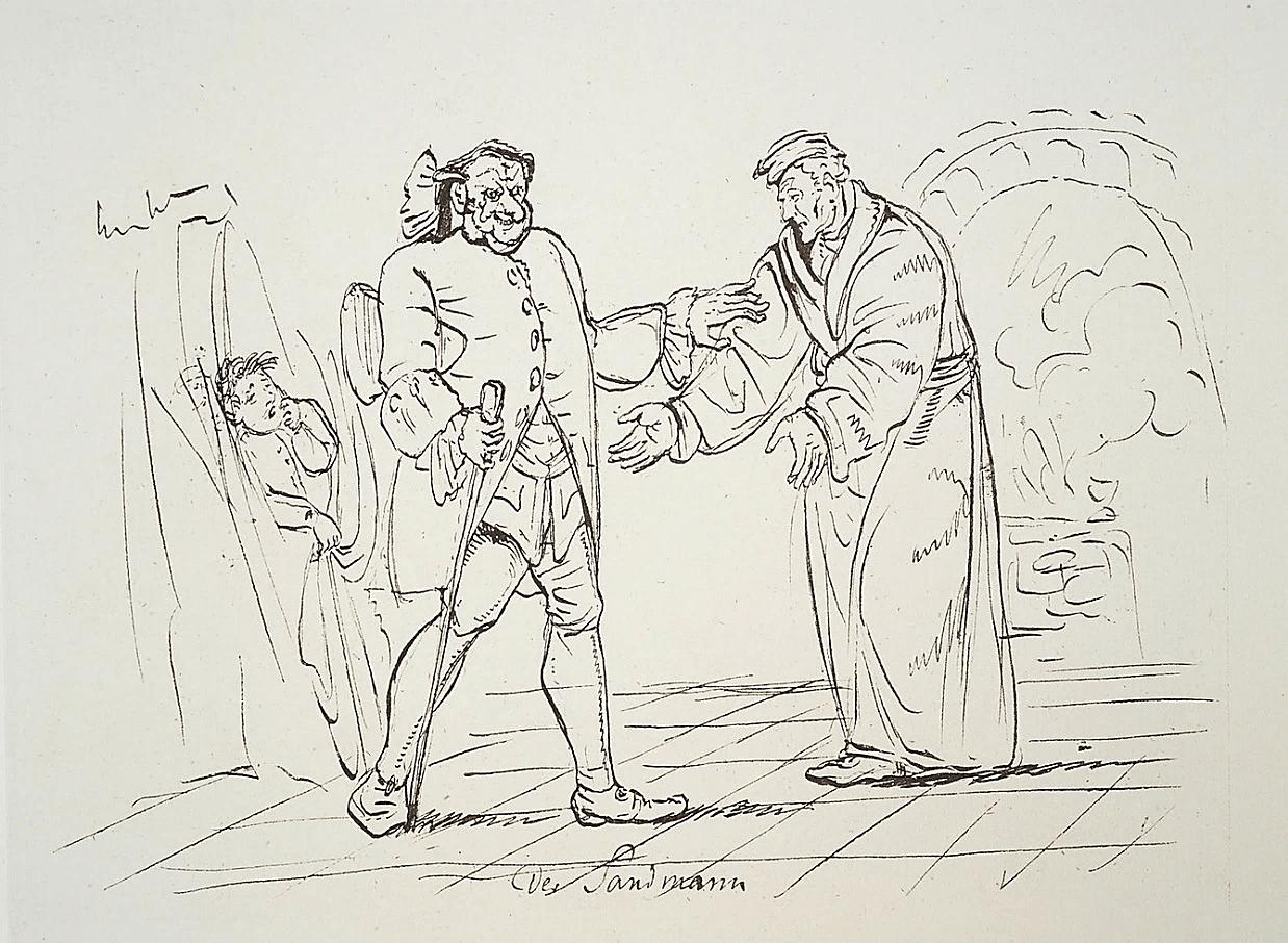 Рисунок Э.Т.А. Гофмана к новелле «Песочный человек»