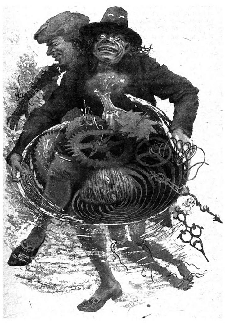 Иллюстрация С.А. Чайкуна к новелле Э.Т.А. Гофмана «Песочный человек»