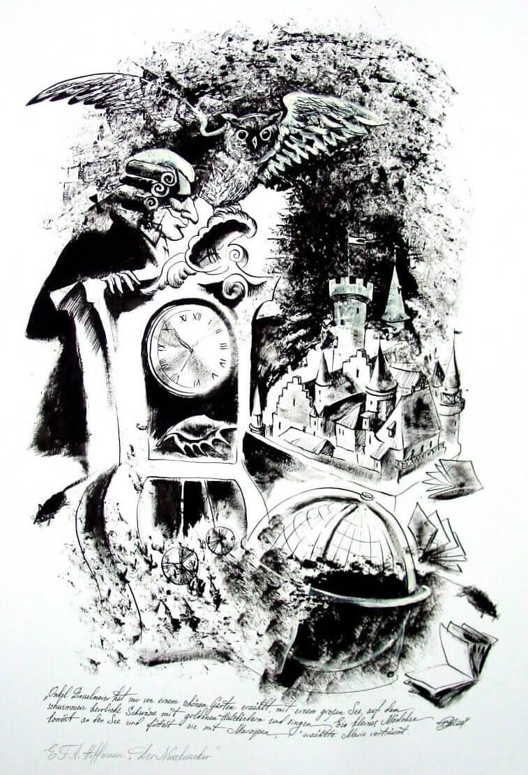 Иллюстрация И.А. Шиповской к сказке Э.Т.А. Гофмана «Щелкунчик и мышиный король»