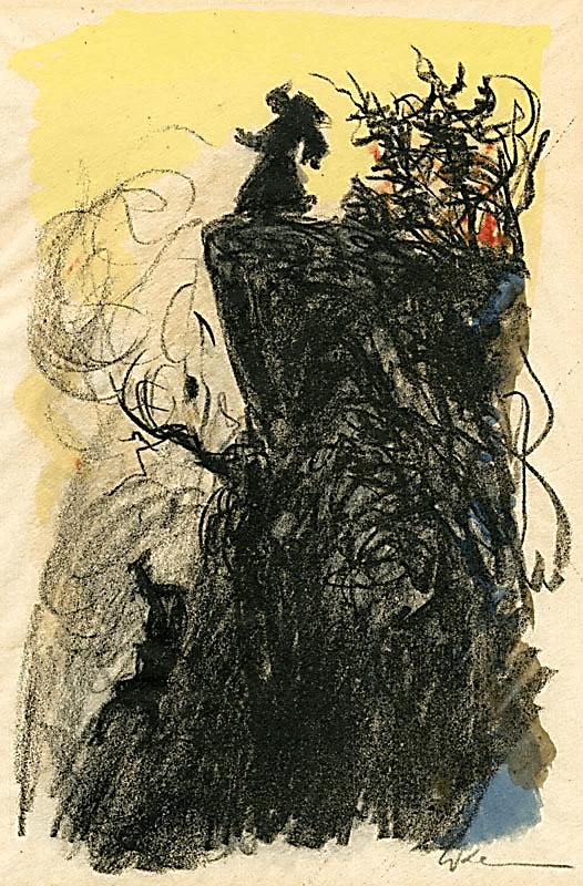 Иллюстрация Вальтера Клемма к роману Э.Т.А. Гофмана «Эликсиры дьявола»