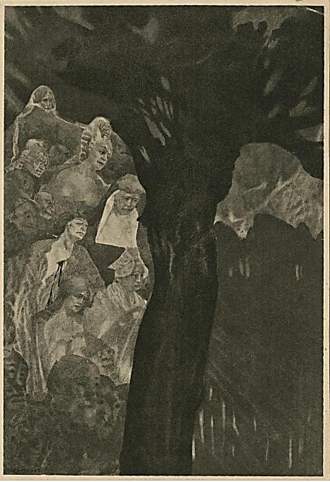 Иллюстрация Хьюго Штейнер-Прага к роману Э.Т.А. Гофмана «Эликсиры дьявола»