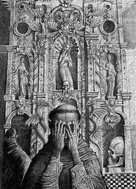 Иллюстрация Р. Н. Сустова к роману Э.Т.А. Гофмана «Эликсиры дьявола»