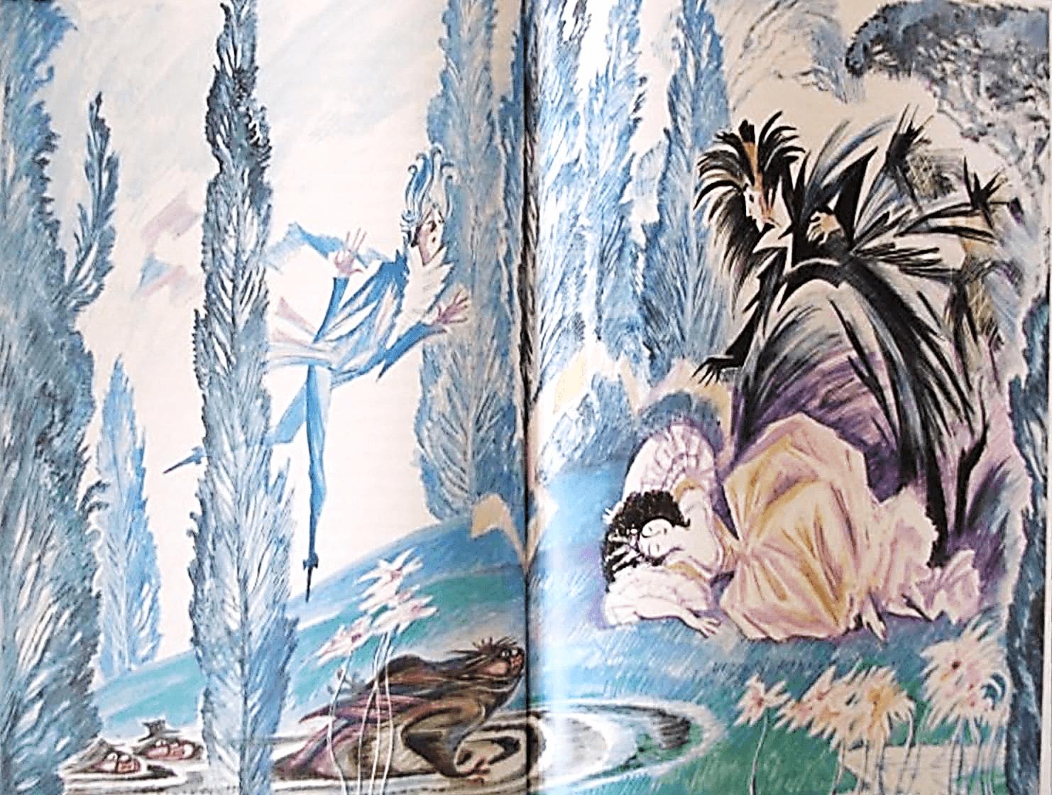 Иллюстрация Н.Г. Гольц к сказке Э.Т.А. Гофмана «Повелитель блох»