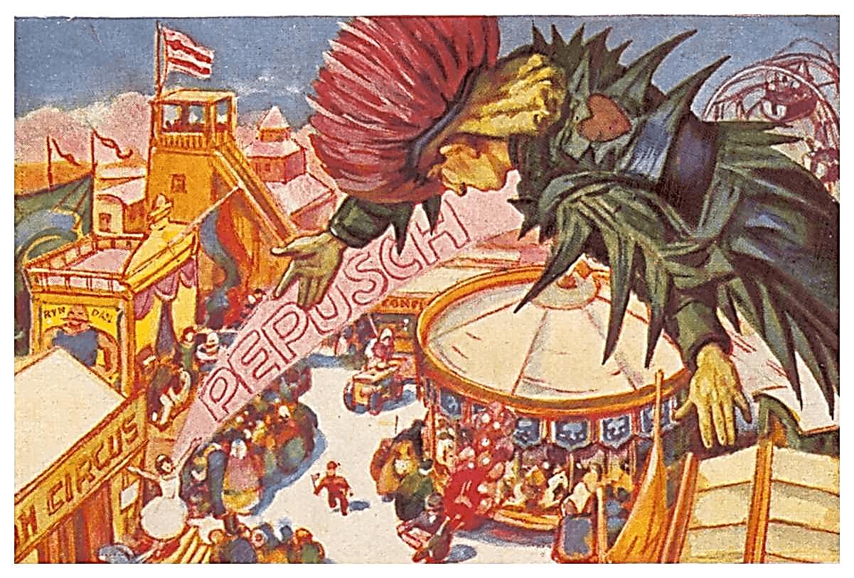 Иллюстрация Стефана Марта к сказке Э.Т.А. Гофмана «Повелитель блох»