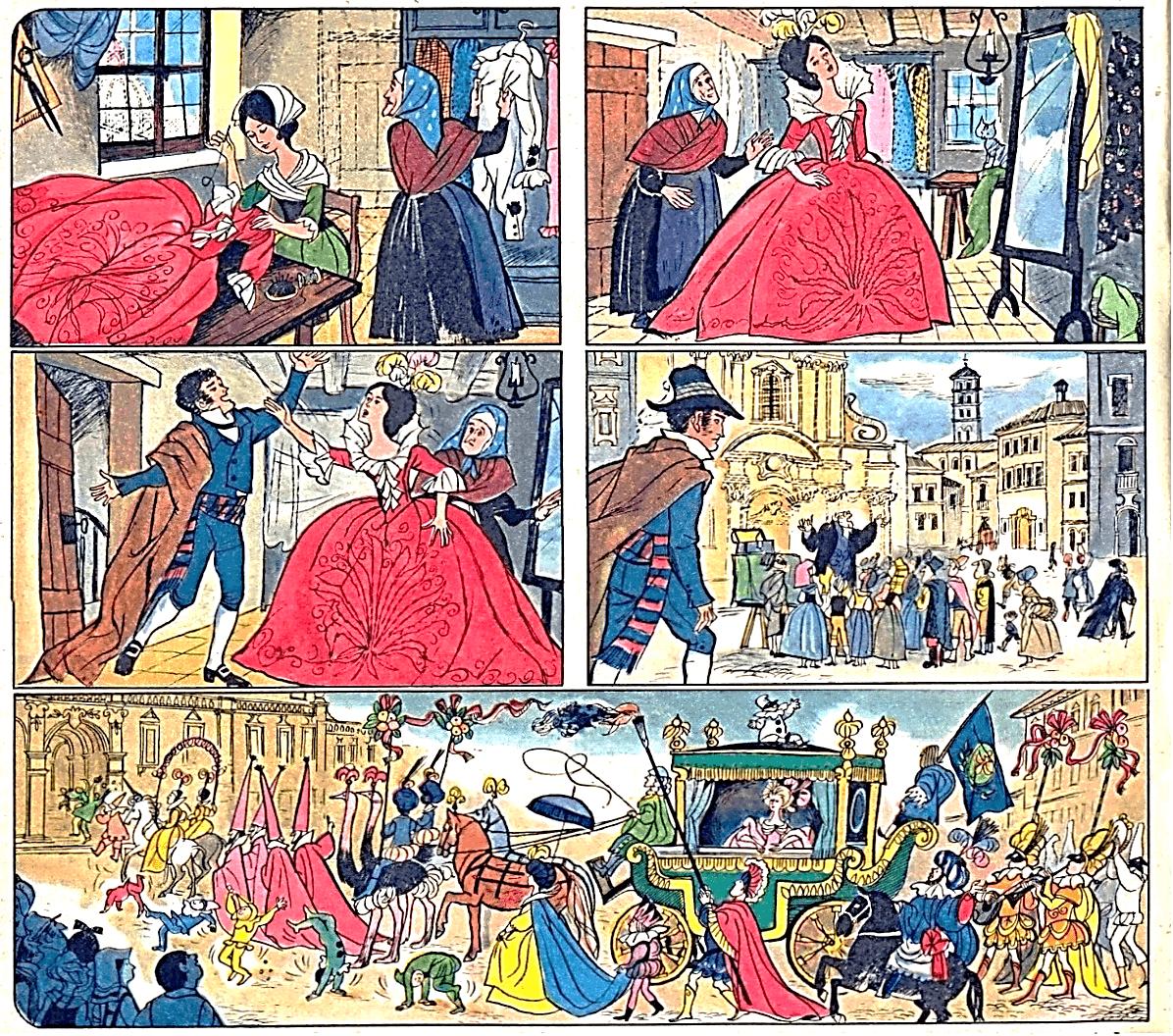 Иллюстрация Грации Нидасио к новелле Э.Т.А. Гофмана «Принцесса Брамбилла»