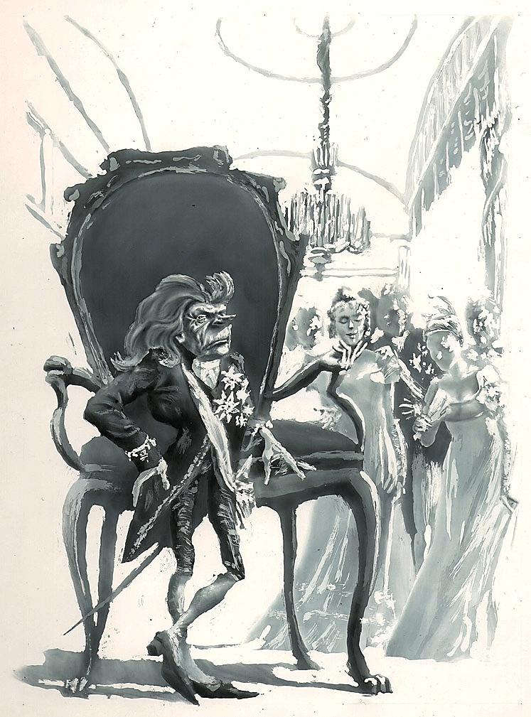Иллюстрация С.А. Чайкуна к новелле Э.Т.А. Гофмана «Крошка Цахес, по прозванию Циннобер»