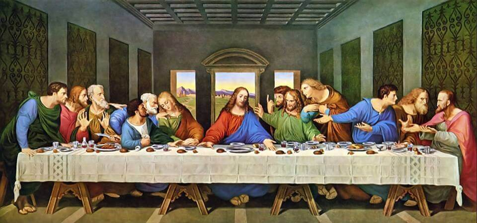 "Леонардо да Винчи ""Тайная вечеря"" (1495—1497)"