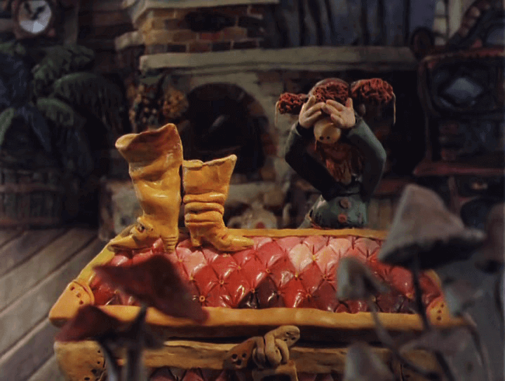 "Кадр из м/ф ""Падал прошлогодний снег"" (1983)"