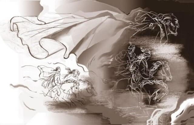 Иллюстрация А.С. Бакулевского к роману М.А. Булгакова «Мастер и Маргарита»