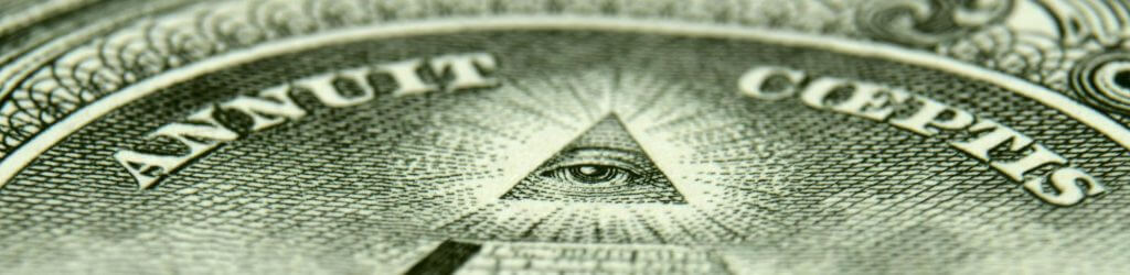 «Annuit cœptis» на долларовой купюре США