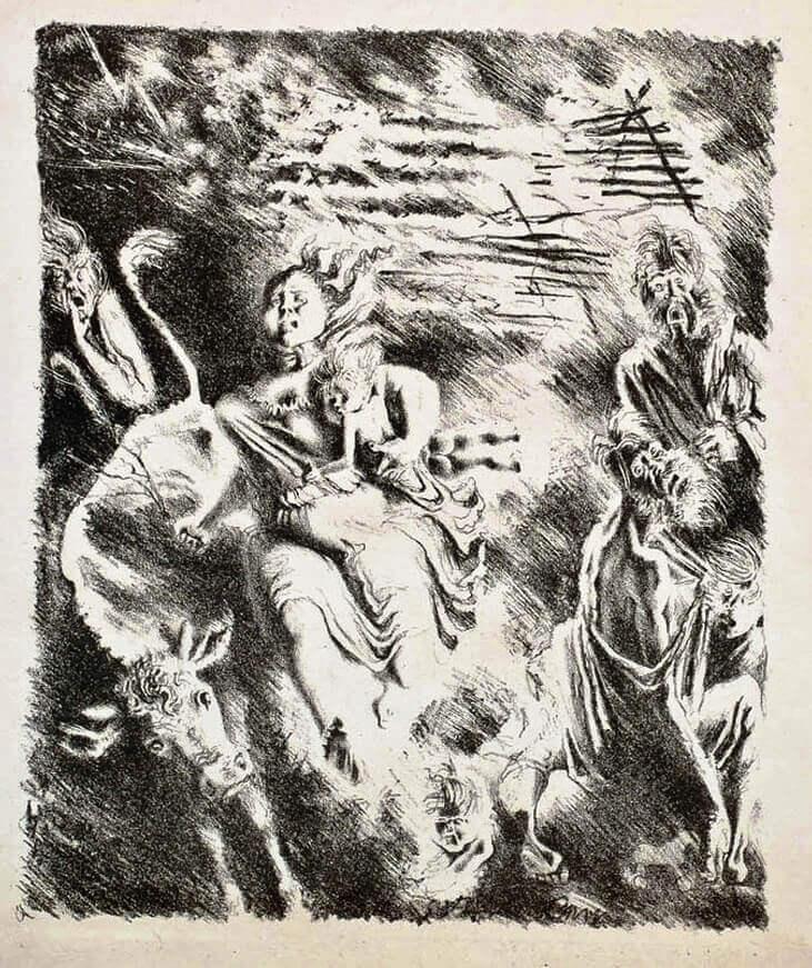 Иллюстрация А.Н. Самохвалова к главе «Соломенный город» «Истории одного города» М.Е. Салтыкова-Щедрина
