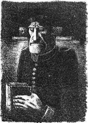 Иллюстрация «Угрюм-Бурчеев» А.Н. Самохвалова к «Истории одного города» М.Е. Салтыкова-Щедрина