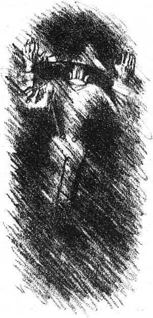 Иллюстрация А.Н. Самохвалова к главе «Подтверждение покаяния. Заключение» «Истории одного города» М.Е. Салтыкова-Щедрина