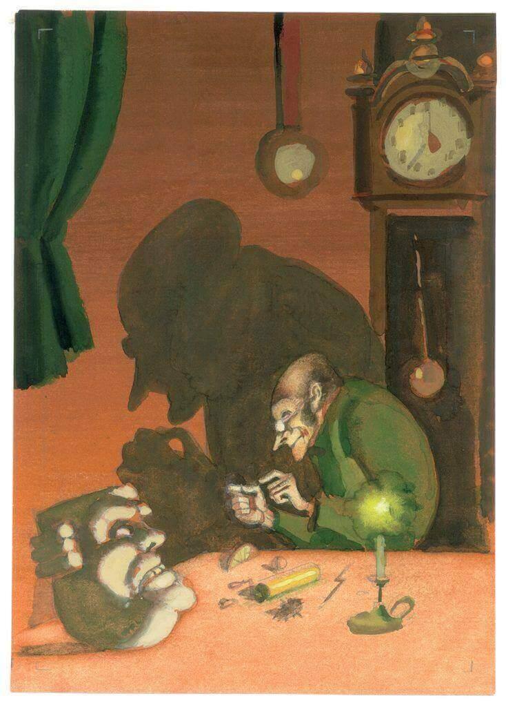 Иллюстрация С.А. Алимова к главе «Органчик» «Истории одного города» М.Е. Салтыкова-Щедрина