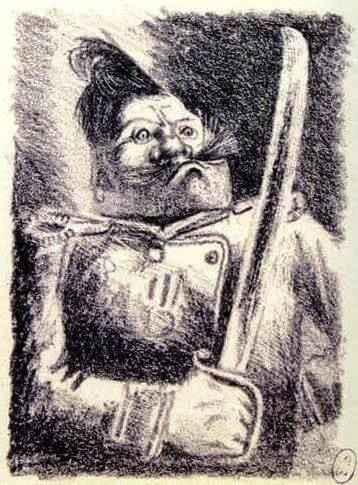 Иллюстрация «Фердыщенко» А.Н. Самохвалова к «Истории одного города» М.Е. Салтыкова-Щедрина