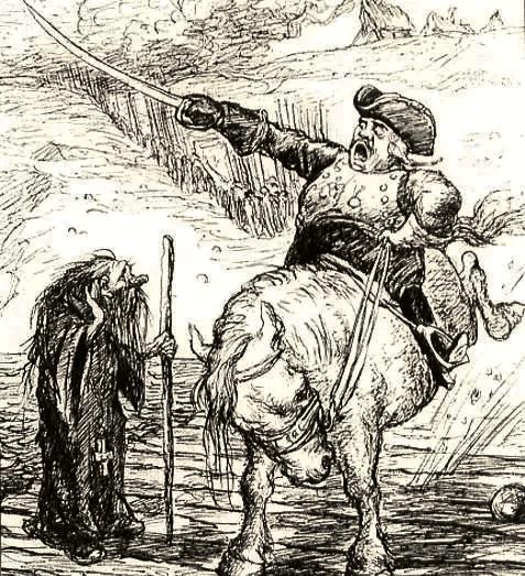 Иллюстрация Кукрыниксов к главе «Войны за просвещение» «Истории одного города» М.Е. Салтыкова-Щедрина